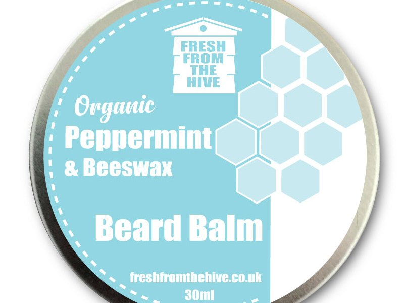 organic peppermint beard balm