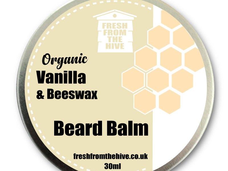 Organic vanilla beard balm