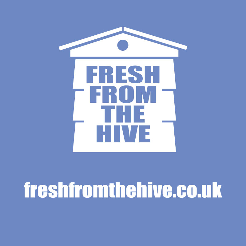 blue fresh from the hive logo