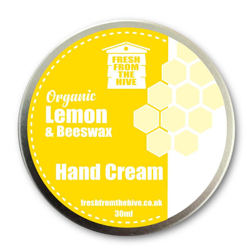 lemom and beeswax hand cream