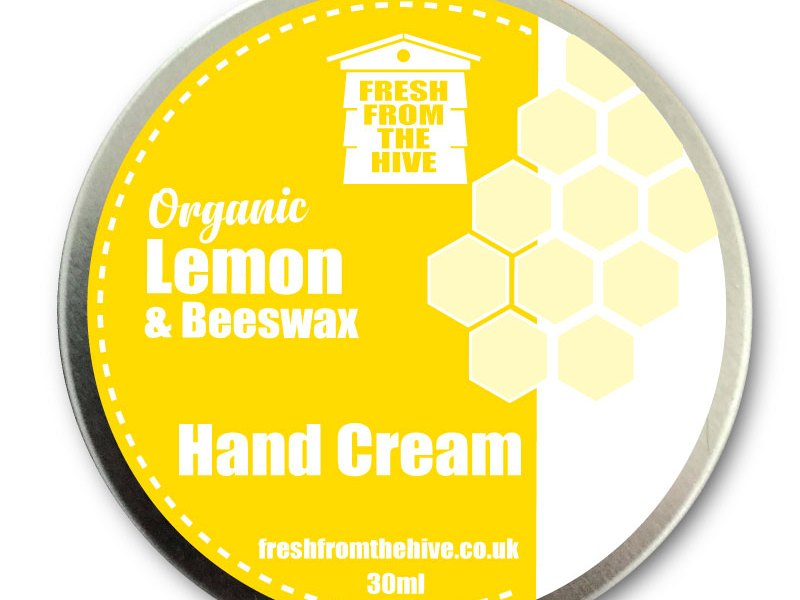 lemom and beeswax hand cream
