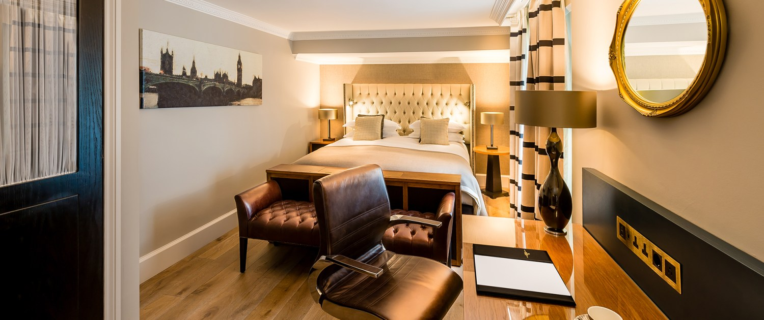 Stylish hotel room interiors