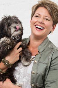 Jennifer with puppy