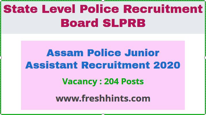 Assam Police JA Recruitment 2020