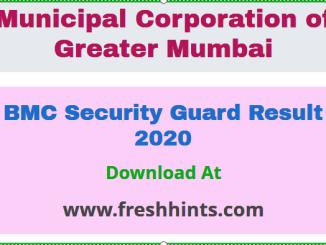 BMC Security Guard Result 2020