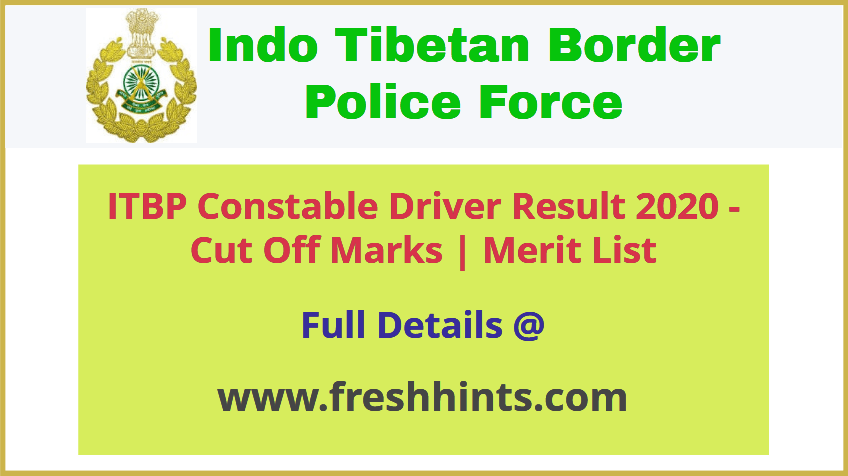 ITBP Constable Driver Result 2020