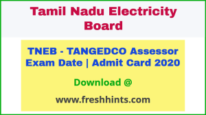 TANGEDCO Assessor Hall Ticket 2020