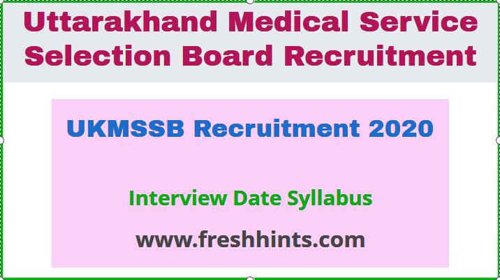 UKMSSB Recruitment 2020