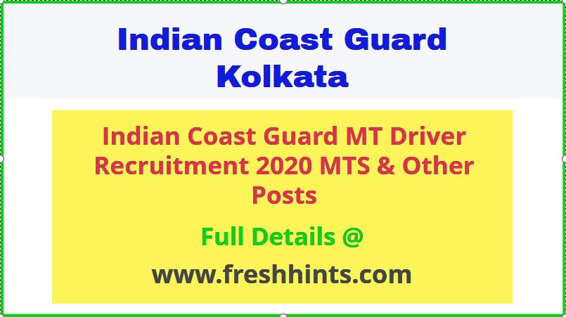Indian Coast Guard MT Driver Recruitment