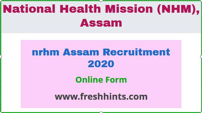 nrhm Assam Recruitment 2020