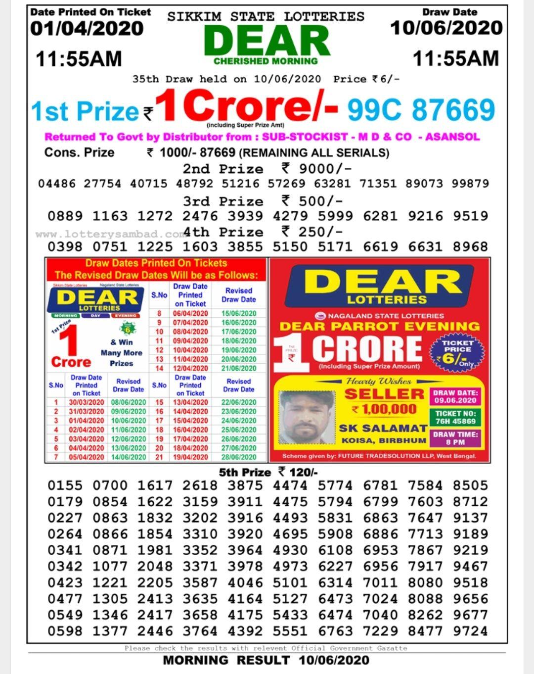 sikkim-morning-lottery-result-10-june-2020