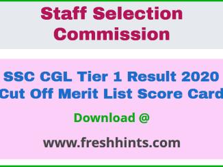 SSC CGL Prelims Result 2020 Marks
