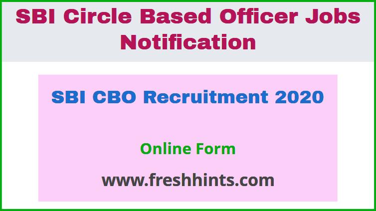 SBI CBO Recruitment 2020