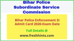 BPSSC Enforcement SI Admit Card