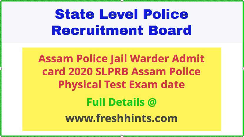 SLPRB Assam Police Admit Card