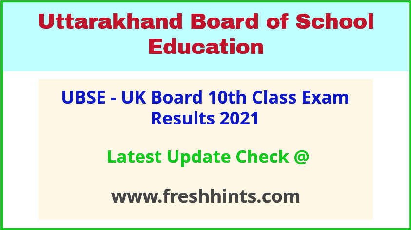 UBSE Class 10 Exam Results 2021