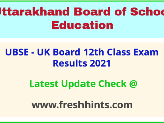 UBSE Class 12 Exam Results 2021