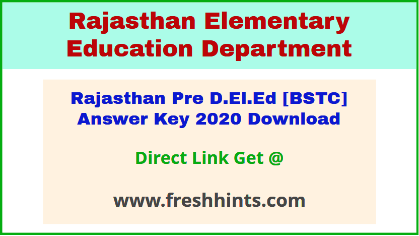 Rajasthan BSTC Exam Analysis Ans Key 2020