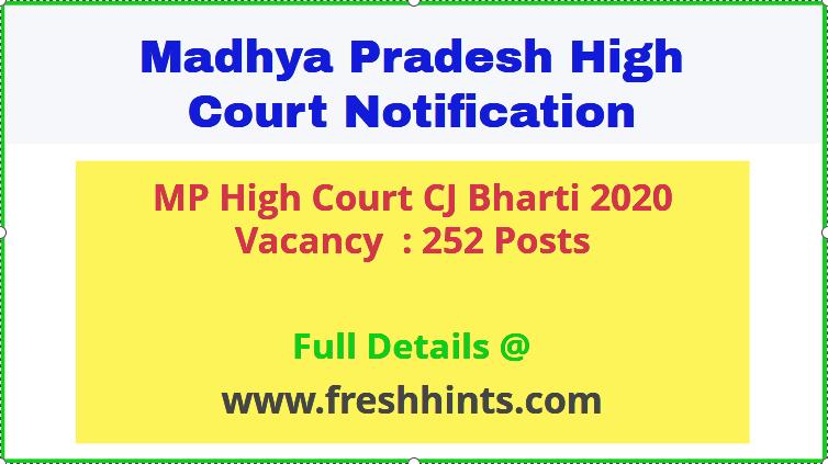 MP High Court CJ Bharti 2020
