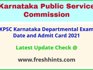 Karnataka Departmental Exam Admit Card 2021