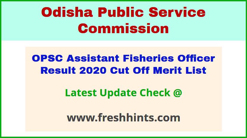 Odisha AFO Selection List 2020