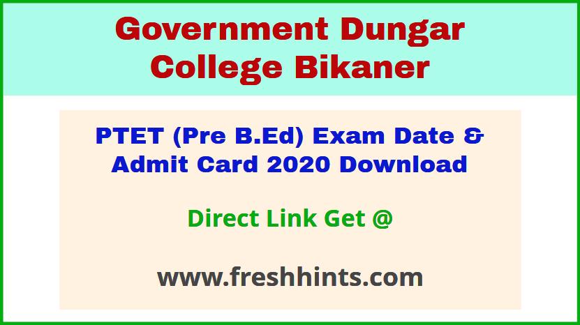 Raj b.ed entrance exam call letter 2020