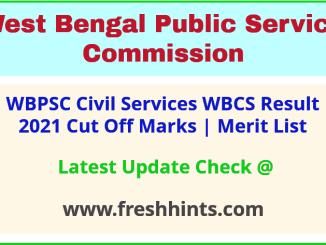 West Bengal Civil Service Selection List 2021