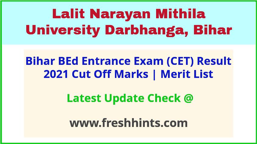 Bihar BEd Entrance Exam Results 2021
