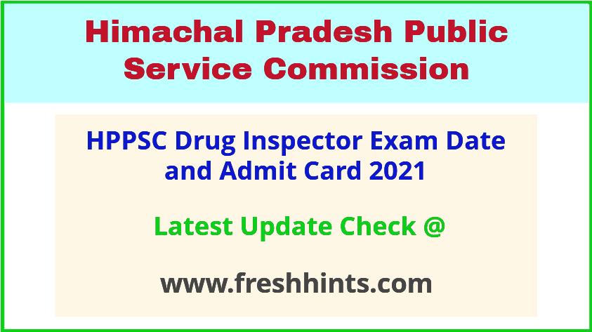HP Drug Inspector Exam Hall Ticket 2021