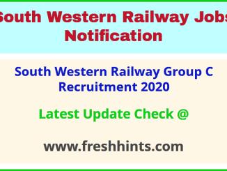 South Western Railway Group C Recruitment 2020