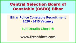 CSBC Constable Bharti 2020