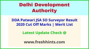 DDA Junior Secretariat Assistant Selection List 2020