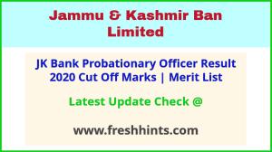 J&K Bank Probationary Officer Selection List 2020