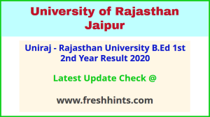 UOR BEd Part 1 and Part 2 Results 2020