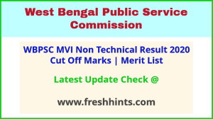 West Bengal Motor Vehicle Inspector Results Selection List 2020