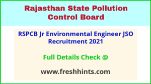 RSPCB Jr Environmental Engineer JSO Recruitment 2021