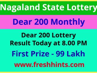 Nagaland Dear 200 Lottery Result 2021