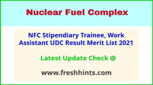 Nuclear Fuel Complex UDC Selection List 2021