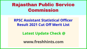 Rajasthan ASO Selection List 2021