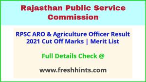 Rajasthan Krishi Adhikari Result Selection List 2021