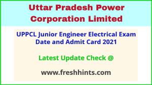 UPPCL Junior Engineer Electrical Exam Hall Ticket 2021