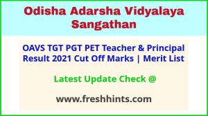 Odisha Adarsha Vidyalaya Sangathan Teacher Exam Results 2021