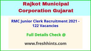 Rajkot Mahanagar Palika Clerk Bharti 2021