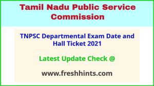 Tamilnadu Departmental Test Admit Card 2021