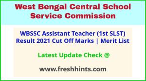 West Bengal SSC 1st SLST 2020 Exam Results 2021