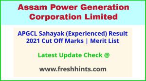 APGCL Sahayak Selection List 2021