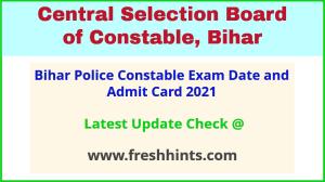 CSBC Constable Exam Admit Card 2021 Download