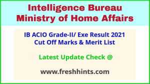 IB Assistant Central Intelligence Officer Selection List 2021