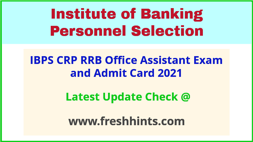 IBPS CRP RRB X Clerk Exam Call Letter 2021