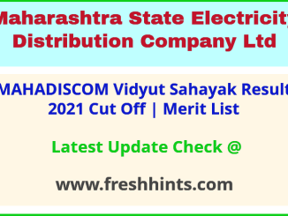 Mahavitaran Vidyut Sahayak Selection List 2021